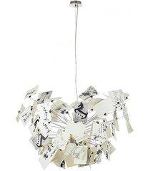 lampa wisząca dali stal węglowa szkło papier