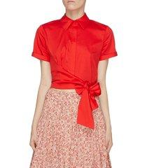 'naomi' asymmetric tie front shirt