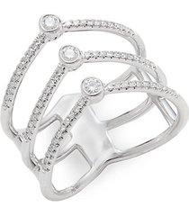 14k white gold & diamond tiered ring