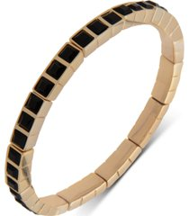dkny gold-tone square stone stretch bracelet