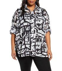 plus size women's ming wang tunic shirt