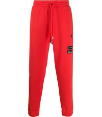 marcelo burlon county of milan relaxed-fit cross logo track pants -