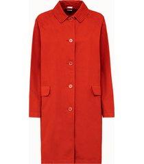 aspesi giacca lunga in cotone arancio