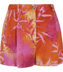 versace tropical print shorts
