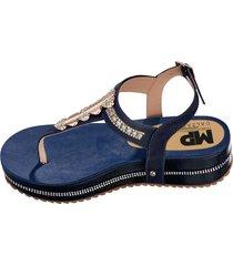 sandalias adulto femenino azul marketing  personal