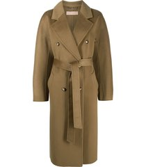 12 storeez double-breasted cashmere-blend coat - green