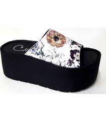 sandalia blanca tamara shoes flor