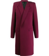 balenciaga 80s shoulder coat - red