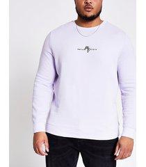 river island mens big and tall maison riviera purple sweatshirt