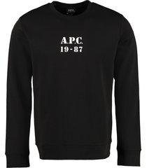 a.p.c. gaby logo detail cotton sweatshirt