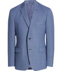 men's big & tall john w. nordstrom traditional fit check wool sport coat, size 50 regular - blue
