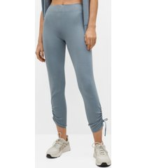 mango ruched detail trousers
