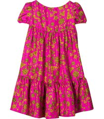 young versace teen fuchsia dress with press