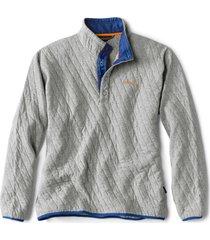outdoor quilted snap sweatshirt