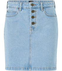 jeanskjol button fly a line skirt