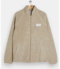 mens beige stone fleece jacket