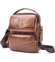 vera pelle vintage casual business sling borsa crossbody borsa per uomo