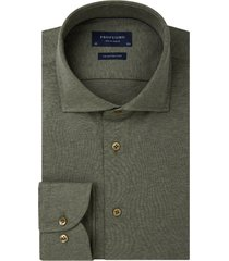 overhemd profuomo groen knitted single jersey