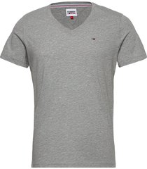 tjm original jersey v neck tee t-shirts short-sleeved grå tommy jeans