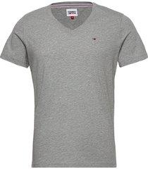 tjm original jersey v neck tee t-shirts short-sleeved grå tommy jeans