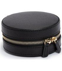 wolf designs round zip jewelry case