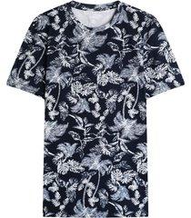 camiseta para hombre hojas azules