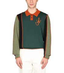 j.w. anderson merino wool polo shirt
