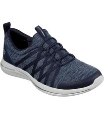 zapatilla city pro - what a vision azul marino skechers