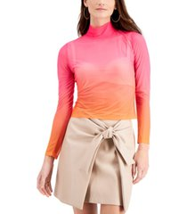 bar iii ombre mesh top, created for macy's