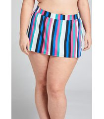 lane bryant women's slitted swim skirt 26 hot stripes