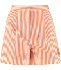 kenzo striped cotton shorts