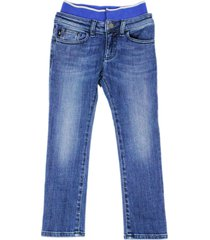emporio armani denim jeans trousers with elasticated waist