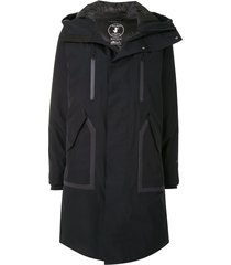 save the duck recycled gore-tex hooded synthetic down parka - black