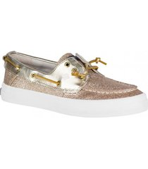 zapatilla crest resort glitter dorado sperry