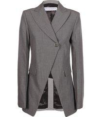 j.w. anderson asymmetric closure cutaway jacket