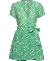 klea short dress aop 6621 korte jurk groen samsøe samsøe