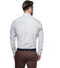 koszula versone 2742 długi rękaw custom fit beż