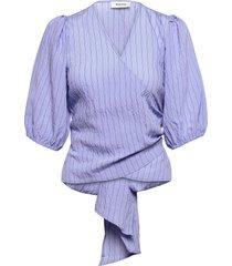 hagrid top blouse lange mouwen blauw modström