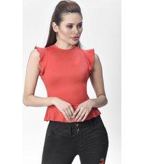 blusa dama rojo di bello jeans  concept blouse b167