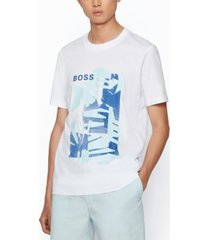 boss men's cotton-jersey t-shirt