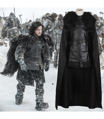 game of thrones jon snow night's watch outfit halloween party cosplay costume
