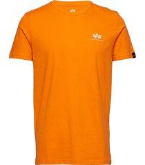 basic t small logo t-shirts short-sleeved orange alpha industries