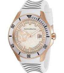 reloj technomarine tm-118016 gris blanco silicona