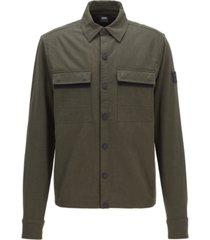 boss men's wapple hybrid sweat jacket