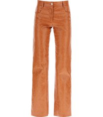 msgm grained faux leather trousers