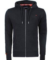 superdry heren vest orange label classic zipped hoodie -