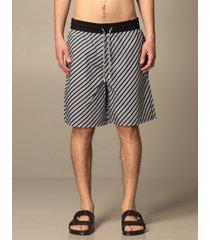 emporio armani short emporio armani bermuda shorts in diagonal striped cotton