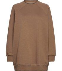 adelphine crew neck 10902 sweat-shirt tröja brun samsøe samsøe