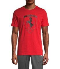 puma ferrari men's big shield t-shirt - red - size s