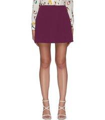 'semira' side pleat mini skirt